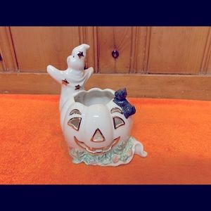 Vintage Halloween Lenox Candle Holder